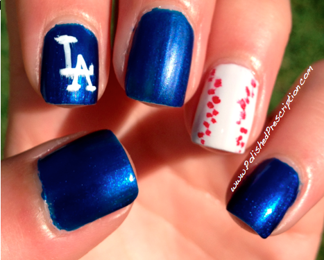 And While The Dodgers Lost I Had A Great Time Nice Excuse To Rep Some Fun La Nails