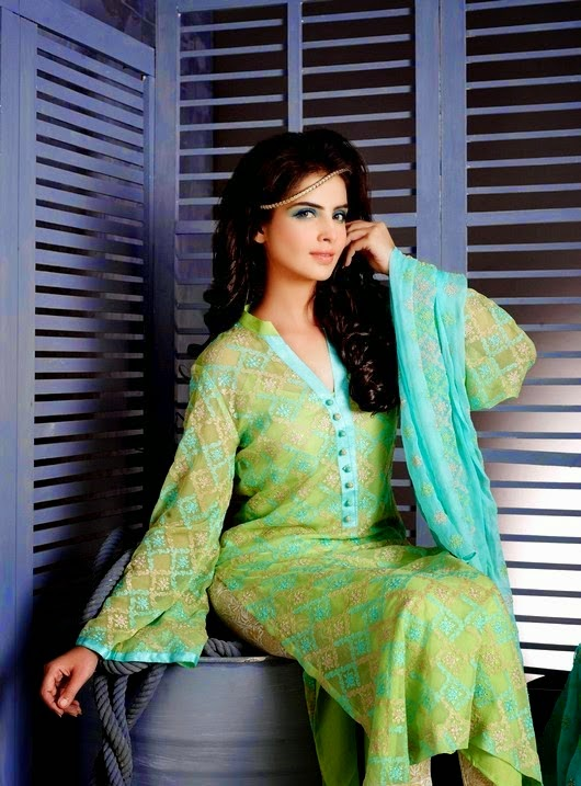 Image Embroidered Eid Dresses 2014