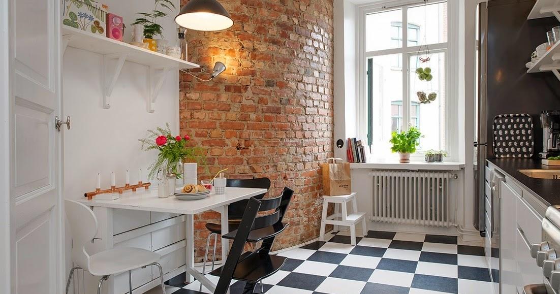 My Bohemic home Tegelvägg i kök, vardagsrum och sovrum