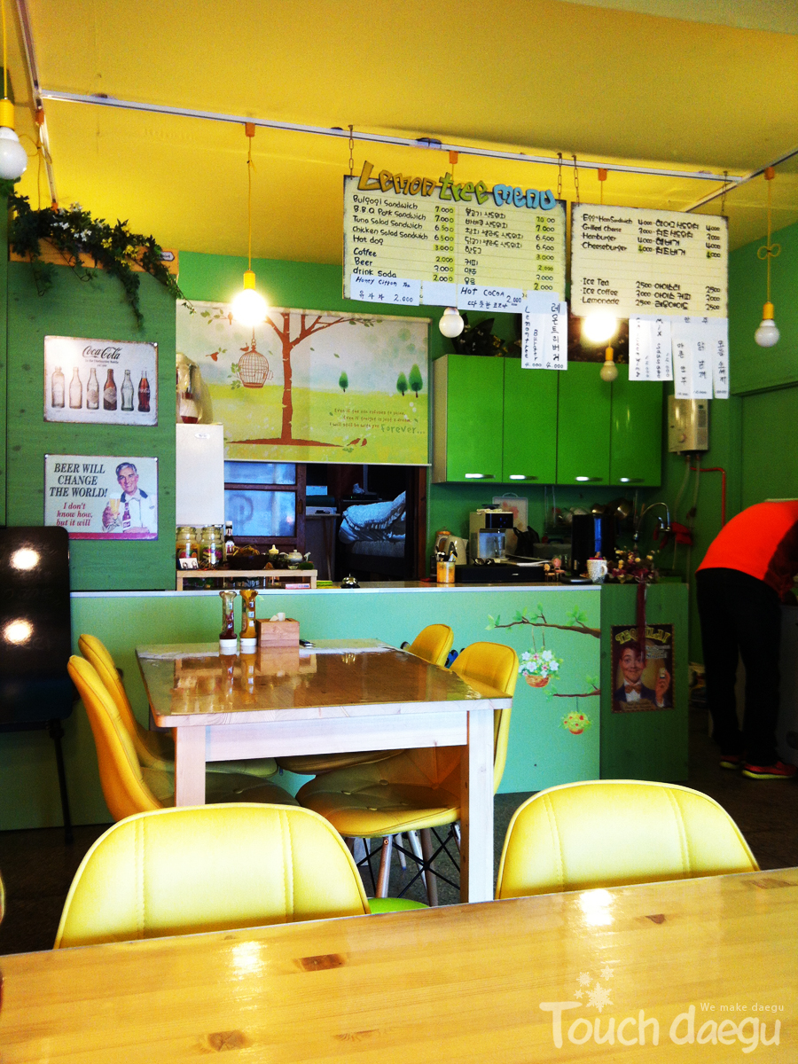 Interior of the sandwich bar