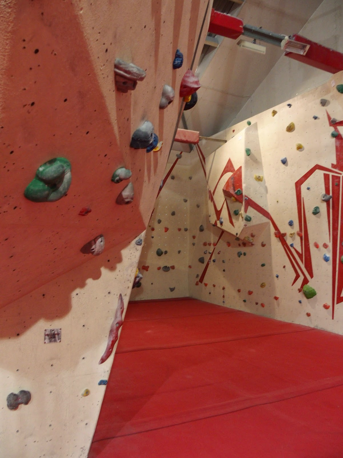 Climbing wall at Urban Ascent