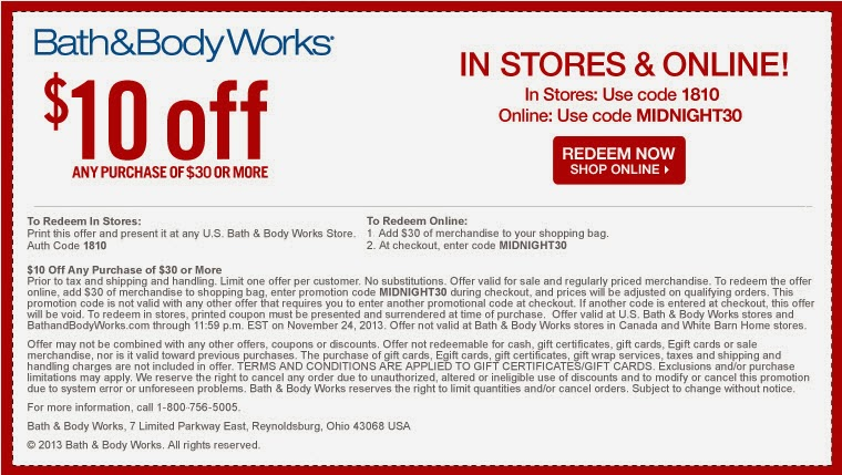 Expired Bath and Body Works Promo Codes & Coupons
