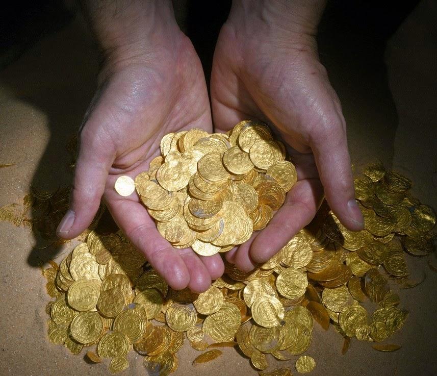 Μεγάλος θησαυρός 2.000 χρυσών νομισμάτων ανακαλύφθηκε στην Καισάρεια