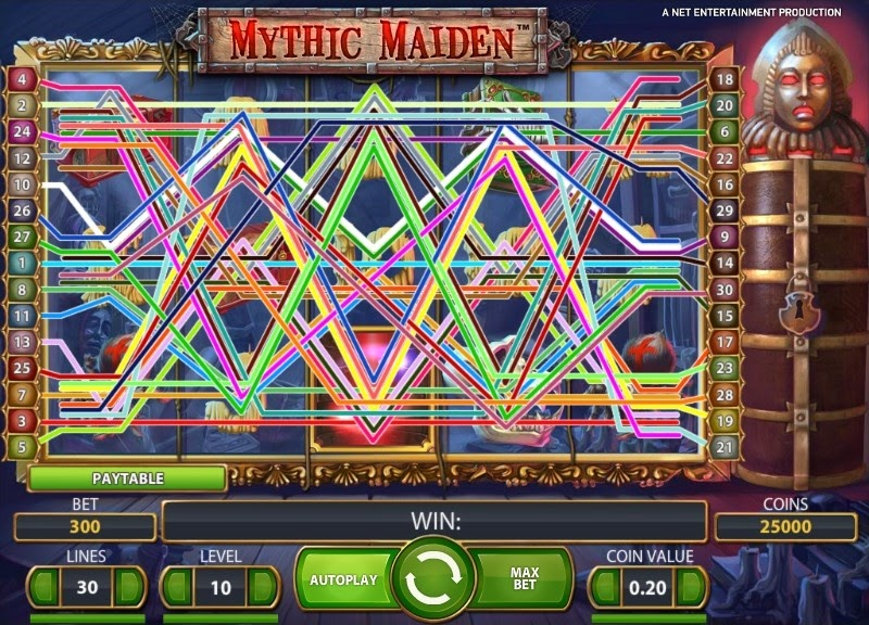 Mythic Maiden Video Slot Screen