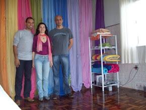 Hilton, Michele e José Sayan em Bento Gonçalves na clínica Divyna Luz