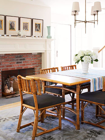 rattan dining room table
