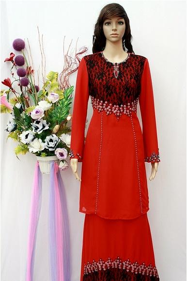 ZM1533BK Baju Kurung Fesyen - Merah