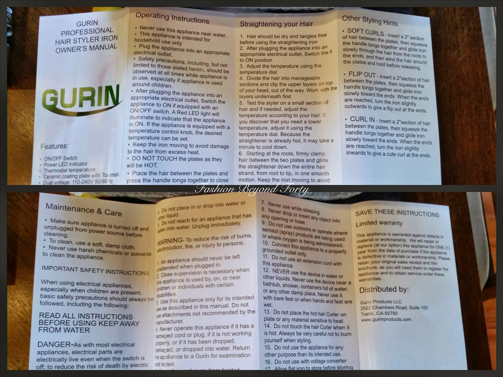 Gurin Professional Flat Iron Review