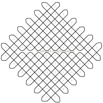 Kolam 35: Nelli Kolam  Dots 12 x 2