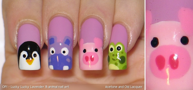 Acetone and old lacquer opi lucky lucky lavender animal nail art opi lucky lucky lavender 2 coats animal nail art prinsesfo Choice Image