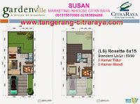 Gardenville Denah Rosette 6 x 15