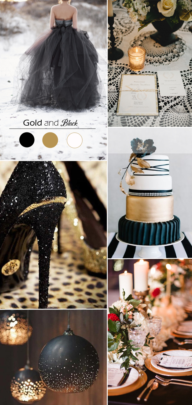 Winter wedding color palettes sonal j shah event for What color goes with gold and white