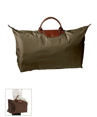 All handbags in Longchamp\u0027s Le Pliage Collection feature tanned leather  trim.