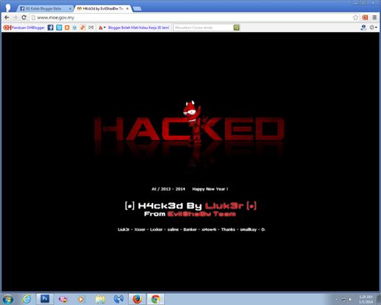 Laman web rasmi Kementerian Pendidikan Malaysia selalunya boleh