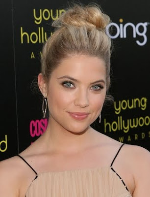 Ashley Benson Top Knot Hairstyle