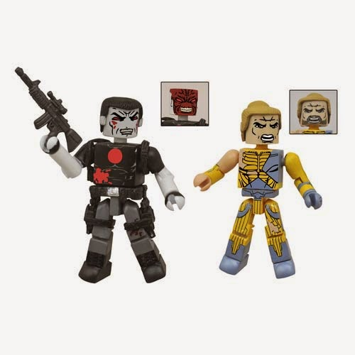 Valiant Entertainment Comic Book Minimates 2 Pack #1 - Battle Damaged X-O Manowar & Bloodshot