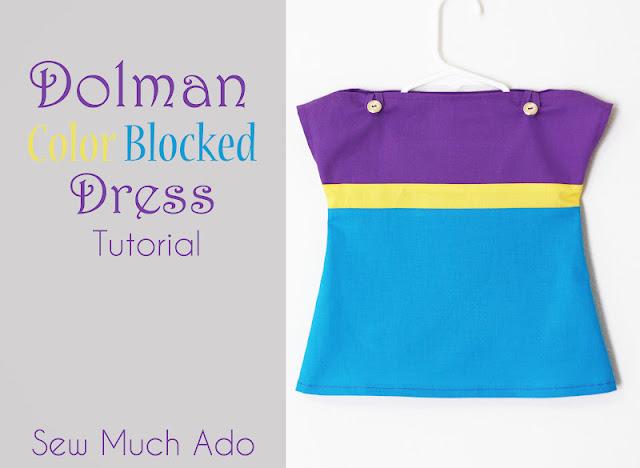 Dolman Color Blocked Dress Sewing tutorial