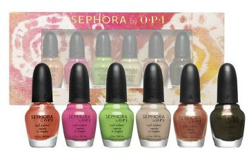 nail polish minis from sephora by opi avon and mark