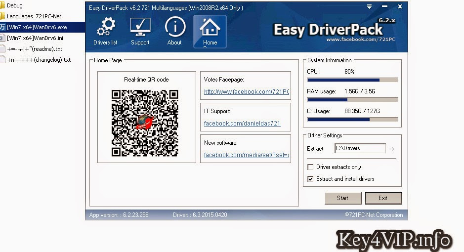 Easy Driver Packs v6.3.2015.0420 English + Việt Nam,Tự động cài tất cả Driver cho Windows XP, Windows 7,Windows 8.1 và Windows 10