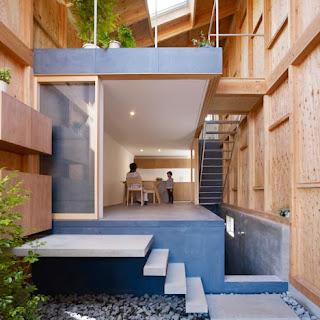 Casa moderna de madera, Japón