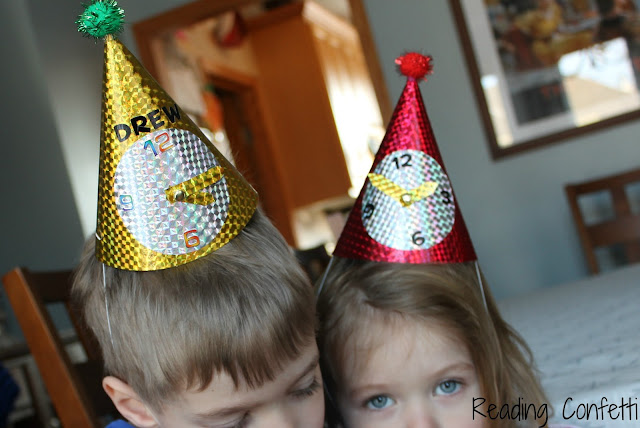Make Your Own Clock Hats for New Year's Eve from Reading Confetti