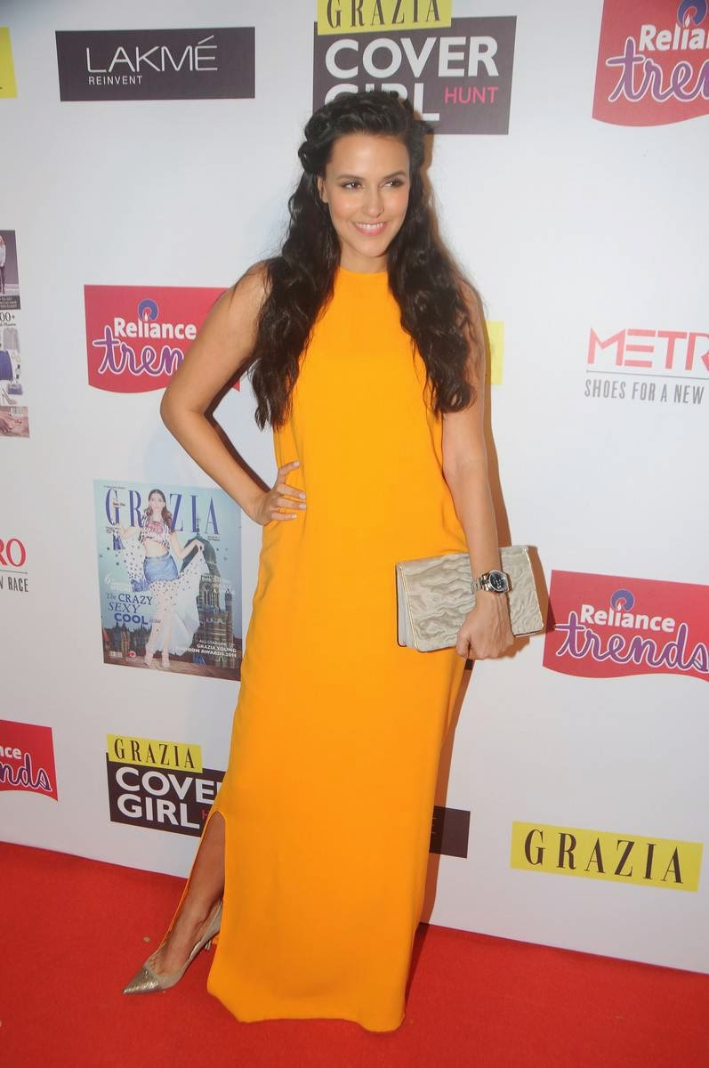Actress Neha Dhupia Latest Cute Hot Spicy Photos Gallery At Grazia Cover Girl Hunt Grand Finale
