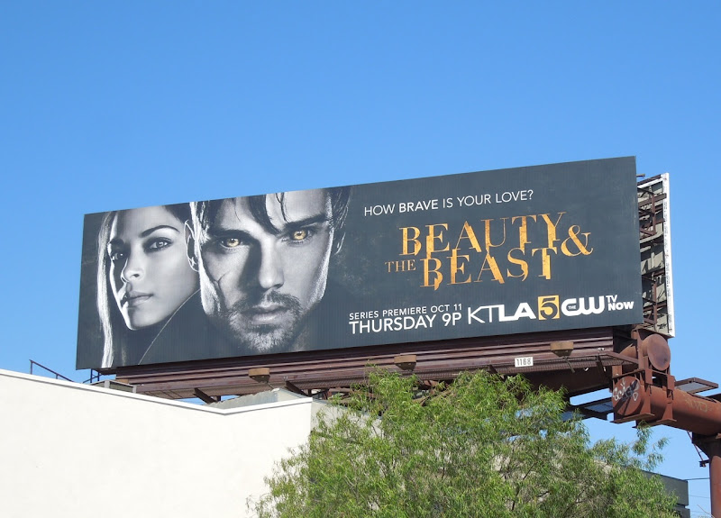 Beauty Beast TV remake billboard