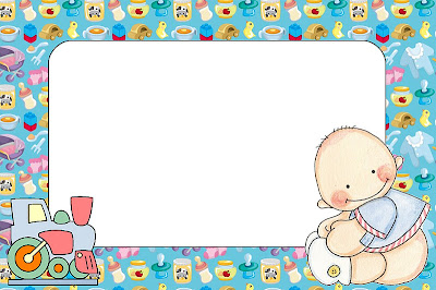 de Bebê e Nascimento Menino e Tremzinho – Kit Completo com molduras