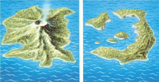 Греция вулкан Санторини