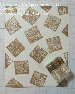 How to Acrylic Block Background Stamp