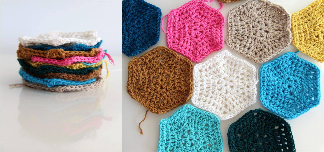 Crochet Patterns Tutorial : creJJtion: Crochet hexagon tutorial