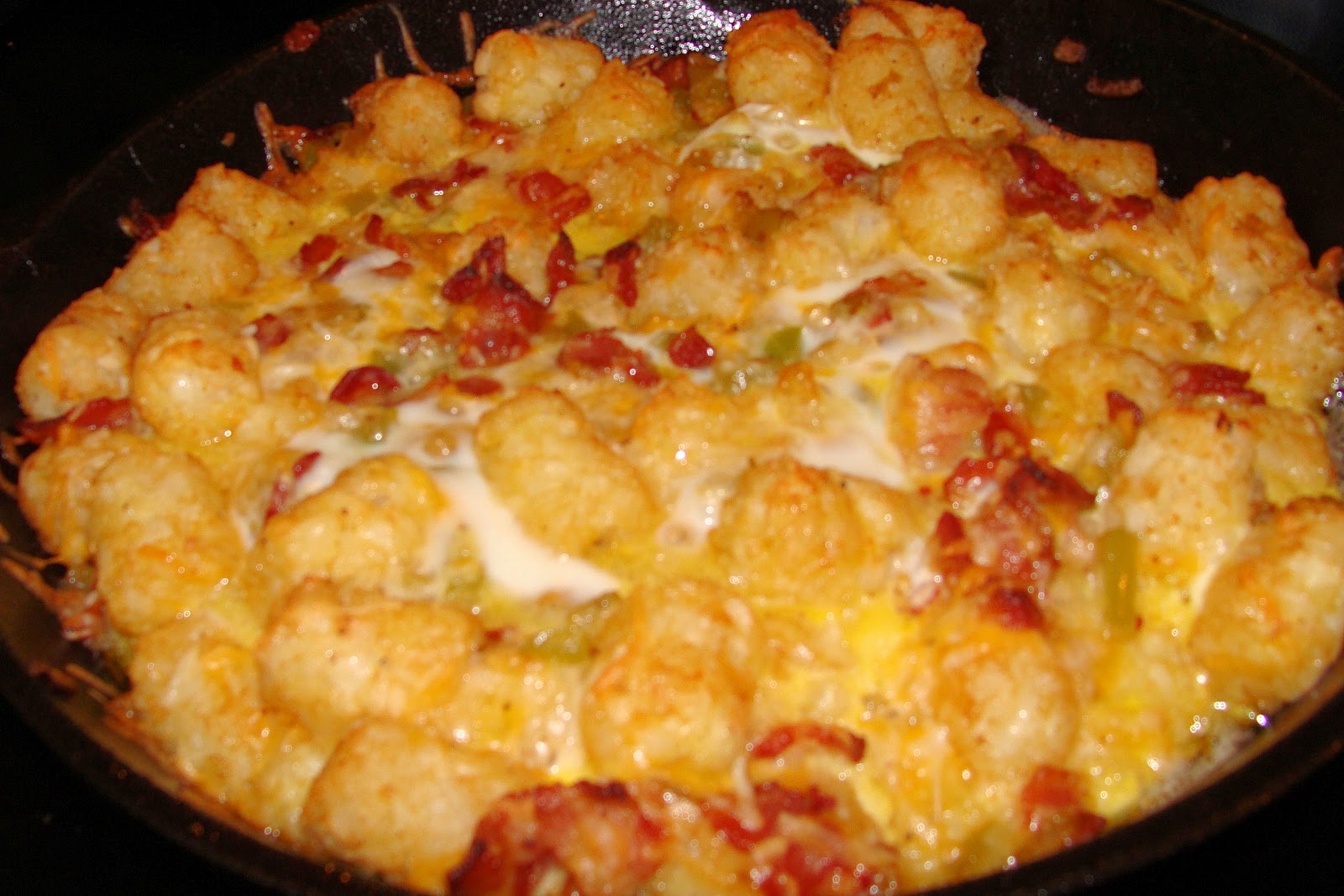 Iron Pot Cooking: Bacon, Egg, and Tater Tot Casserole