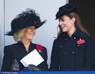 kate middleton Black Double Breasted Diane Von Furstenberg Coat Remembrance day
