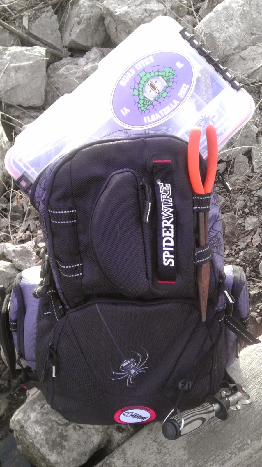 Israel dunn human powered angling spiderwire utility for Spiderwire fishing backpack