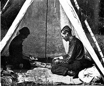 Robert and Kathrene Pinkerton camping before building their cabin