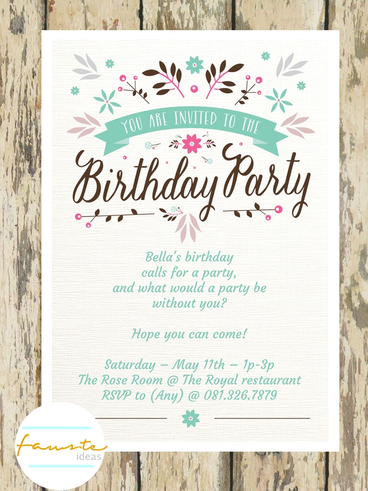Invitation Stationery And Gift Juni - Contoh invitation card sweet seventeen birthday party