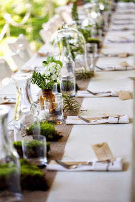 http://ruffledblog.com/vintage-botanical-wedding-ideas-with-lightbulb-terrariums-moss-and-kraft-paper/
