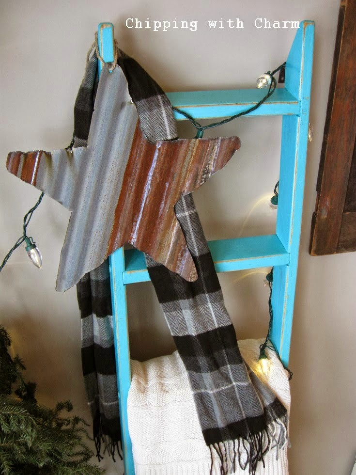 Chipping with Charm: Barn Tin Stars...www.chippingwithcharm.blogspot.com