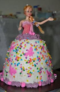gambar Resep dan Cara Menghias Kue Tart Barbie