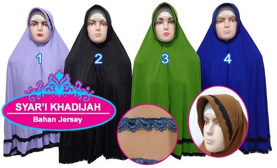Jilbab Bahan Jersey Murah Ukuran Jumbo Renda Susun