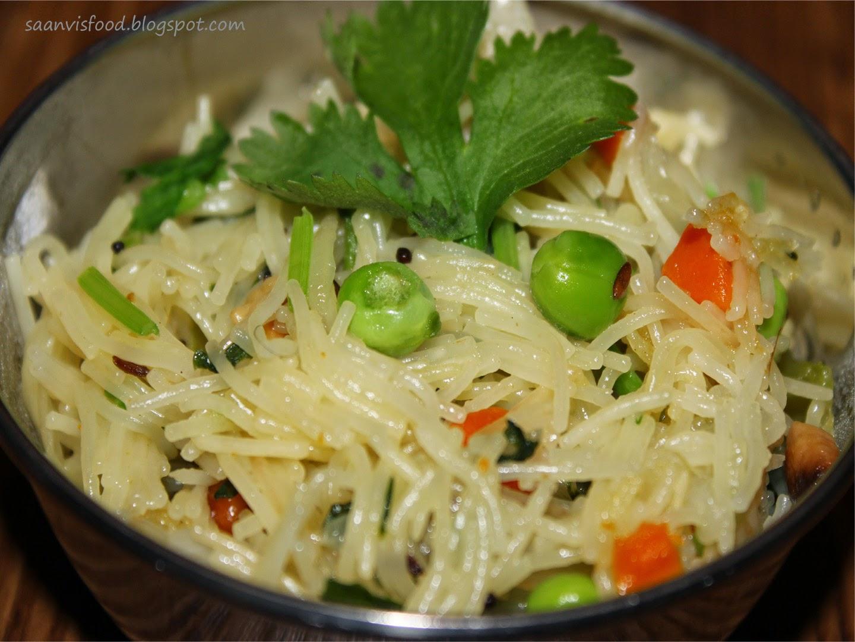 Vegetable semiya upma / vermicelli upma