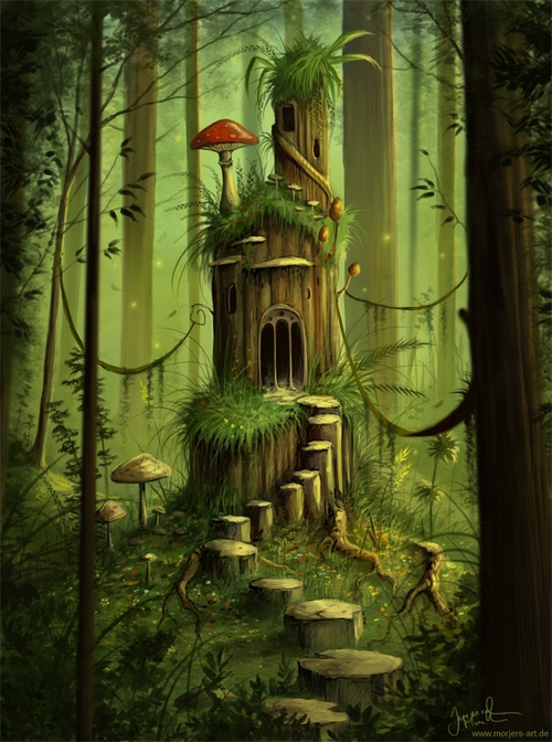 01-A-Forest-Castle-Jeremiah-Morelli-Fantasy-Digital-Art-from-a-Middle-School-Teacher-www-designstack-co