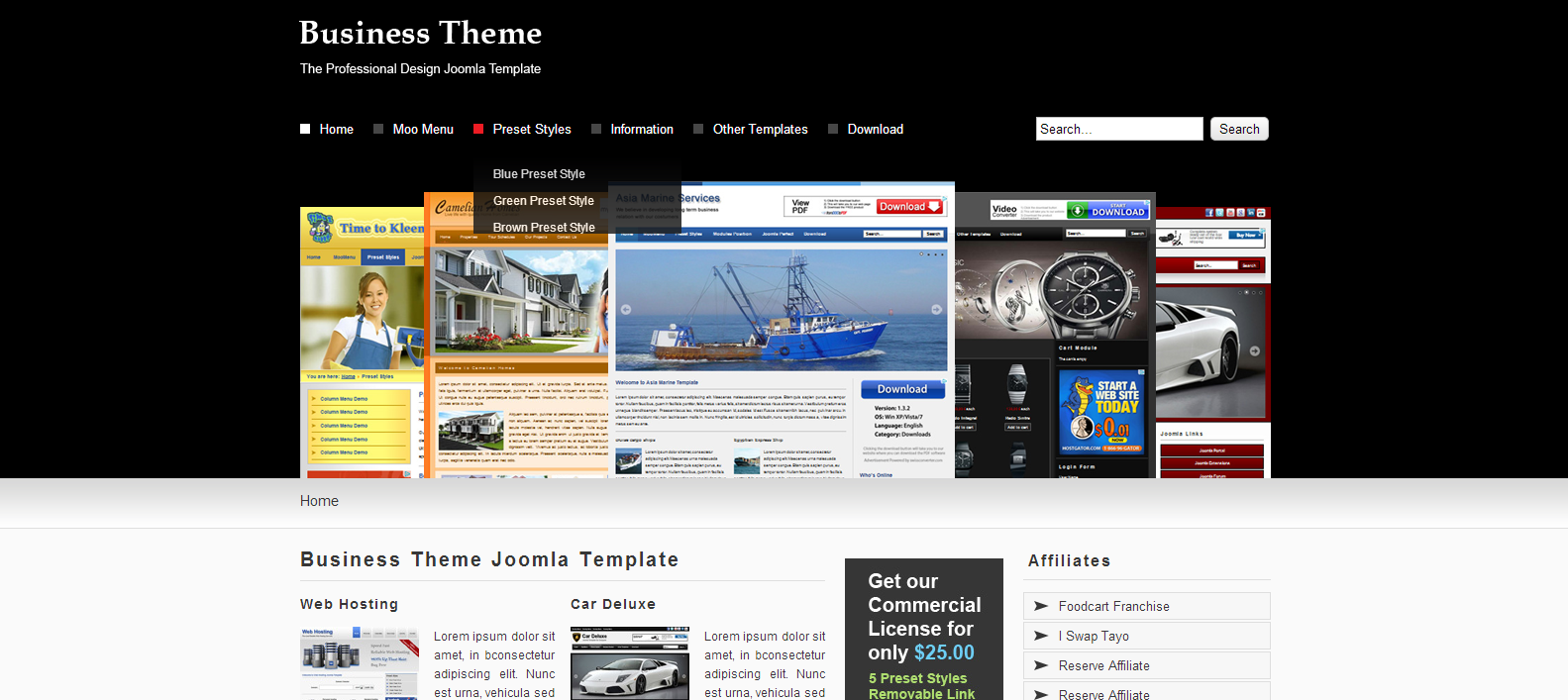 Business Free Joomla Template