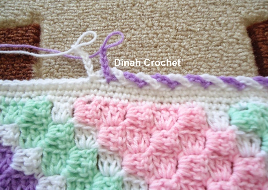 Crochet Baby Blanket Edging Tutorial : Dinah Crochet: August 2014