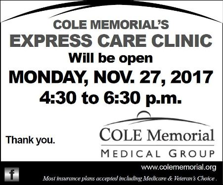 11-27 Express Care Hours