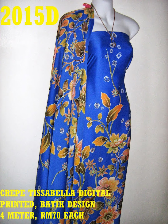 CTD 2015D: BATIK CREPE TISSABELLA DIGITAL PRINTED, EXCLUSIVE DESIGN, 4 METER