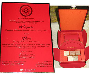 Oberoi Wedding card