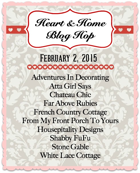 Heart & Home Valentines Blog Hop- From My Front Porch To Yours