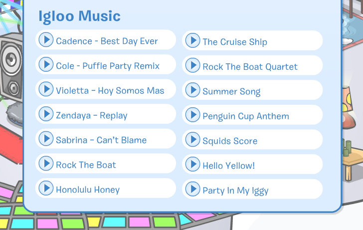 Club Penguin Igloo Music July 2014