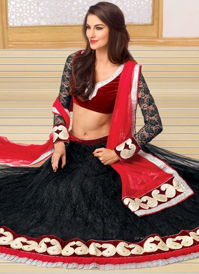http://www.cbazaar.com/bridesmaid-and-family/lehenga-choli/black-net-lehenga-choli-p-ghshtxhy9505b.html